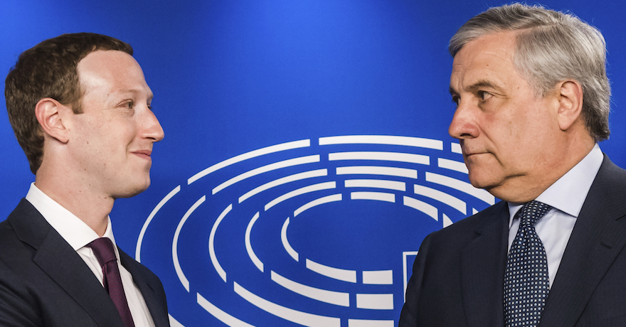 Mark Zuckerberg - Antonio Tajani