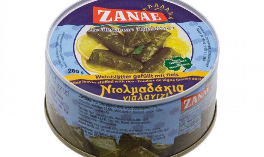 ZANAE: Τα ελληνικά ντολμαδάκια εξάγονται σε 20 χώρες
